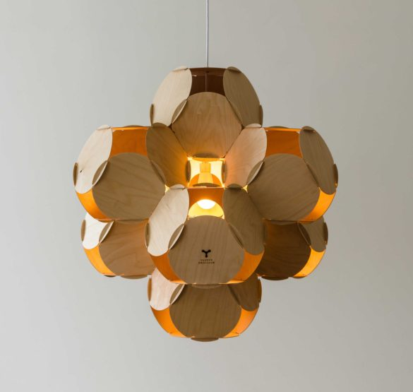 Ceiling lamp 8CELLS by Jaanus Orgusaar