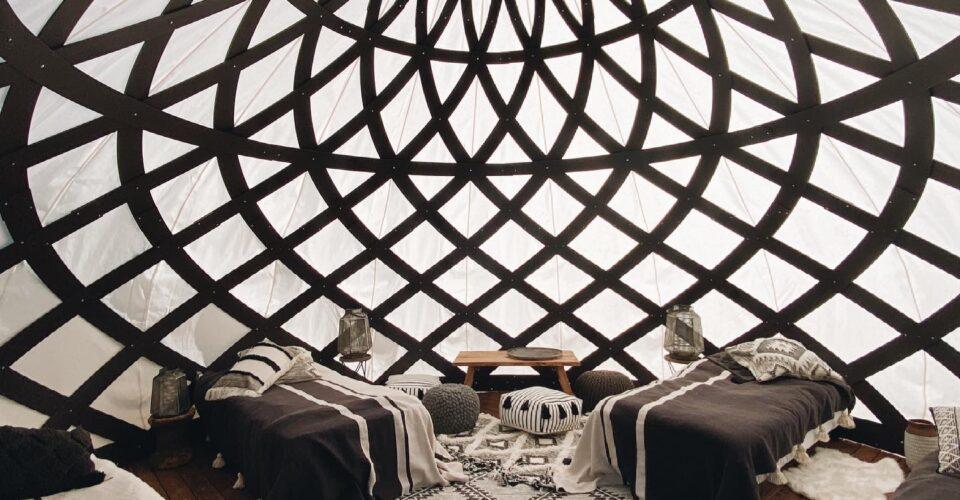 Zome yurt